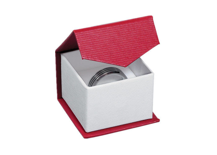 Fancy Cardboard Ring Jewelry Box Recyclable Custom Size Environmentally Friendly